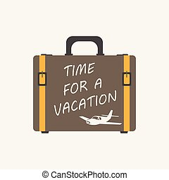 płaski, podróż, pojęcie, illustration., lato, vacation., objazd, urlop, wektor, turystyka, walizka, podróż, czas, podróż