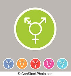 płaski, sieć, symbol, znak, transsexual, transgender, lgbt, ...