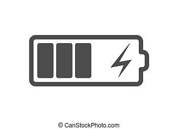płaski, smartphone, moc, bateria, charger., accumulator, ...