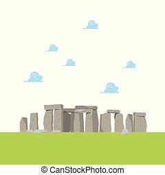 płaski, stonehenge, styl