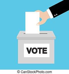 płaski, styl, pojęcie, głosowanie