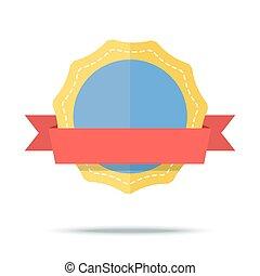płaski, styl, prosty, ilustracja, wektor, projektować, icon., odznaka
