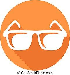 płaski, sunglasses, ikona