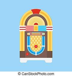 płaski, szafa grająca, ikona