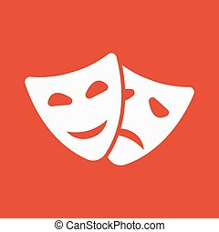 płaski, theater upozorowują, symbol., dramat, icon., komedia, tragedia