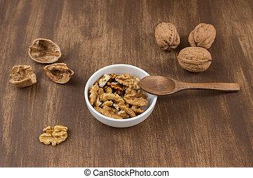 płaski, walnuts, zenit
