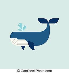 płaski, wieloryb, styl