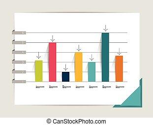płaski, wykres, graph.