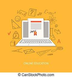 płaski, wykształcenie, projektować, online