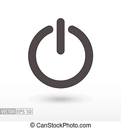 płaski, -, zamknięcie, ikona