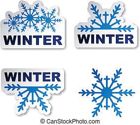płatek śniegu, wektor, majchry, zima, promocyjny