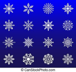 płatek śniegu, zima, komplet