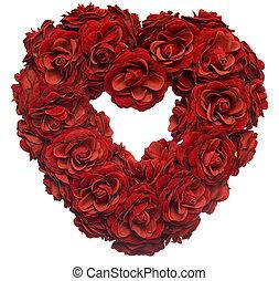 płatek, serce, róża