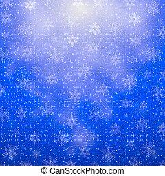 płatki śniegu, boże narodzenie, tło