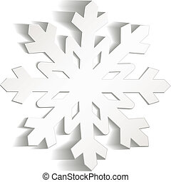 płatki śniegu, cięty, z, papier