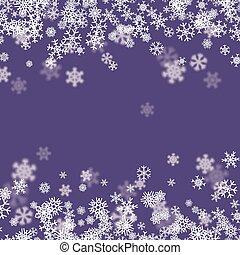 płatki śniegu, rozsiadły, śnieg, tło, spadanie, boże narodzenie, zima