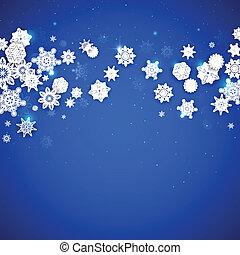 płatki śniegu, tło, boże narodzenie