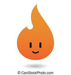 płomień, ikona