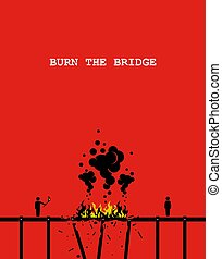 płonąć, bridge.