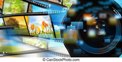 płynący, multimedia
