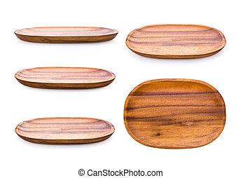 płyta, biały, drewno, tło