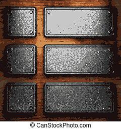 płyta, drewno, żelazo