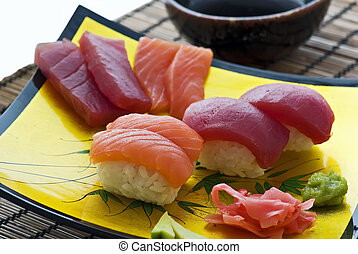 płyta, sushi
