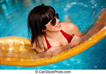 pływacki, na, materac