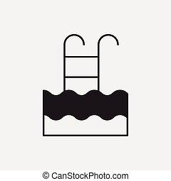 pływacki wrębiają, ikona