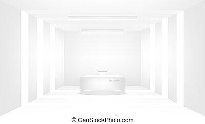 příjem, vnitřní, decorative., čelit, lavice, podnik, entrance.