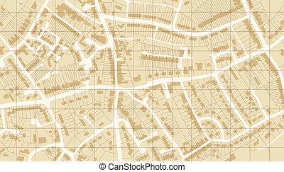 předměstí, mapa