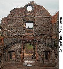 předměstí, starobylý troska, palác, mumbai