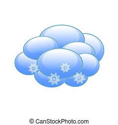 předpověď počasí, ikona