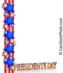 předseda den, hraničit, grafický
