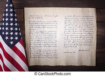 předseda, lincoln's, abraham, gettysburg, adresovat