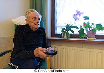 představený voják, povolit, v, sanatorium, do, turku, finsko