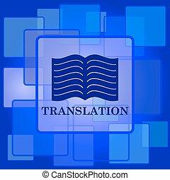 překlad, kniha, ikona