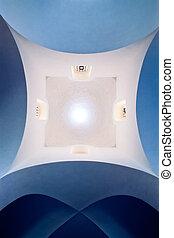 překlenout strop, do, dějinný, kaple