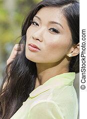 překrásný, číňan, asijský, young eny, děvče
