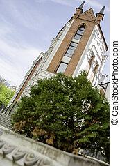 překrásný, budova, do, ta, dějinný, center.