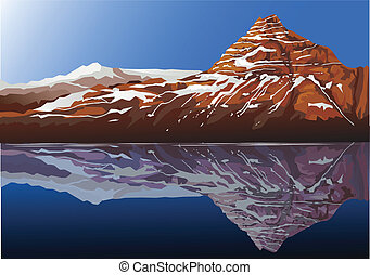 překrásný, hora, grafické pozadí