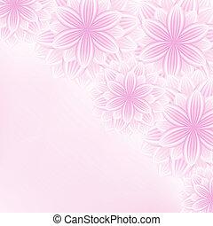 překrásný, krajka, květinový, vrchol grafické pozadí, s, květiny