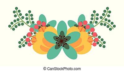 překrásný, květinový kytice, kytice, uspořádání