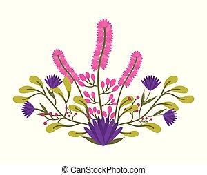 překrásný, květinový, kytice, uspořádání