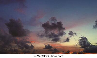 překrásný, timelapsed, východ slunce