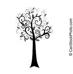 překrásný, umění, strom