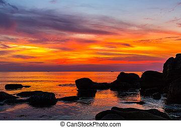 překrásný, východ slunce