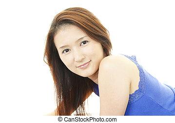 překrásný, young eny, usmívaní