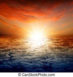 překrásný, západ slunce