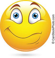 překvapený, smiley, charakter, čelit